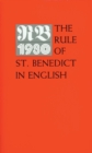 Image for The Rule of St. Benedict in English