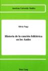 Image for Historia de la Cancion Folklorica en Los Andes