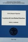 Image for La Prosa de Luis Rafael Sanchez : Texto y Contexto