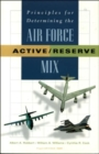 Image for Principles for Determining the Air Force Active/reserve Mix