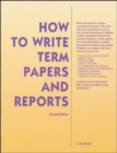 Image for How to write term papers and reports