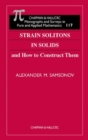 Image for Strain Solitons in Solids and How to Construct Them