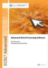 Image for Advanced word processing software using Microsoft Word 2013: BCS ITQ level 3