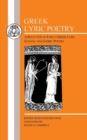 Image for Greek Lyric Poetry