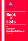 Image for Book of Lists for Regulated Hazardous Substances