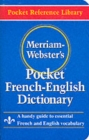 Image for Merriam-Webster's pocket French-English dictionary  : a handy guide to essential French and English vocabulary