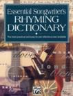 Image for ESSENTIAL SONGWRITERS RHYMING DICTIONARY