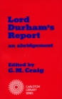 Image for Lord Durham's Report