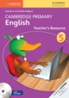 Image for Cambridge Primary English : Cambridge Primary English Stage 5 Teacher's Resource Book with CD-ROM