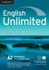 Image for English Unlimited Elementary Coursebook with e-Portfolio and Online Workbook Pack