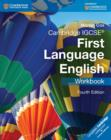 Image for Cambridge IGCSE first language English: Workbook : Cambridge IGCSE (R) First Language English Workbook