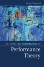 Image for The Cambridge introduction to performance theory
