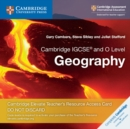 Image for Cambridge IGCSE (R) and O Level Geography Cambridge Elevate Teacher's Resource Access Card