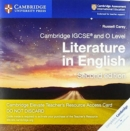 Image for Cambridge IGCSE (R) and O Level Literature in English Cambridge Elevate Teacher's Resource Access Card