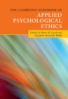 Image for The Cambridge handbook of applied psychological ethics