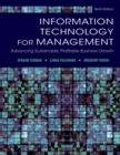 Image for Information technology for management  : advancing sustainable, profitable business growth