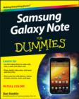 Image for Samsung Galaxy Note for dummies