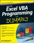 Image for Excel  VBA programming for dummies