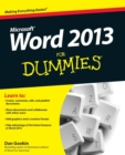 Image for Word 2013 for dummies