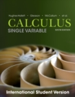 Image for Calculus: single variable