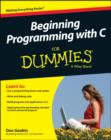 Image for Beginning programming with C for dummies
