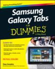 Image for Samsung  Galaxy Tabs for dummies