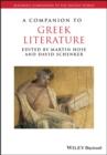 Image for Companion to Greek Literature