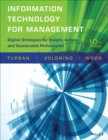 Image for Information technology for management  : digital strategies for insight, action, and sustainable performance