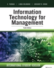 Image for Information technology for management: digital strategies for insight, action, and sustainable performance