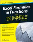 Image for Excel formulas & functions for dummies