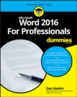 Image for Word 2016 for professionals for dummies
