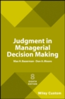 Image for Judgment in Managerial Decision Making