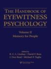 Image for Handbook of eyewitness psychology.: (Memory for people) : Vol. 2,