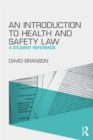 Image for An introduction to health and safety law  : a student reference
