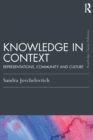 Image for Knowledge in context  : representations, community and culture