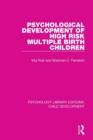 Image for Psychological development of high risk multiple birth children