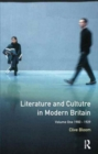Image for Literature and Culture in Modern Britain: Volume 1 : 1900-1929