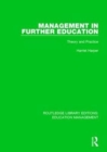 Image for Management in further education  : theory and practice