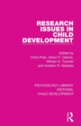 Image for Research issues in child development