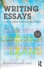 Image for Writing essays  : a guide for students in English and the humanities