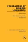 Image for Foundations of general linguistics