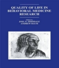 Image for Quality of life in behavioral medicine research