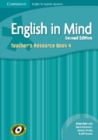 Image for English in Mind for Spanish Speakers Level 4 Teacher's Resource Book