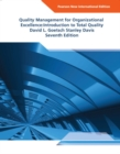 Image for Quality management for organizational excellence  : introduction to total quality
