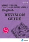 Image for Revise Edexcel functional skills level 1 English: Revision guide