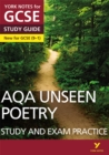 Image for AQA English literature unseen poetry: Study guide and test practice