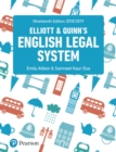 Image for Elliott & Quinn's English legal system