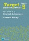 Image for Target Grade 5 Unseen Poetry AQA GCSE (9-1) Eng Lit Workbook