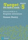 Image for Target Grade 5 Unseen Poetry Edexcel GCSE (9-1) Eng Lit Workbook