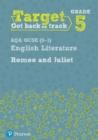 Image for Target grade 5 Romeo and Juliet AQA GCSE (9-1) Eng Lit workbook